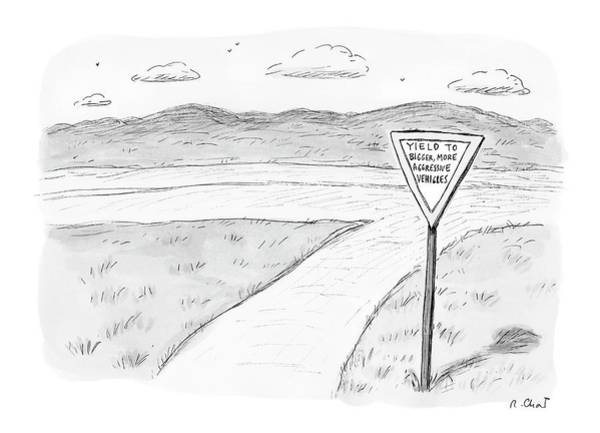 Vehicle Drawing - New Yorker June 5th, 2006 by Roz Chast