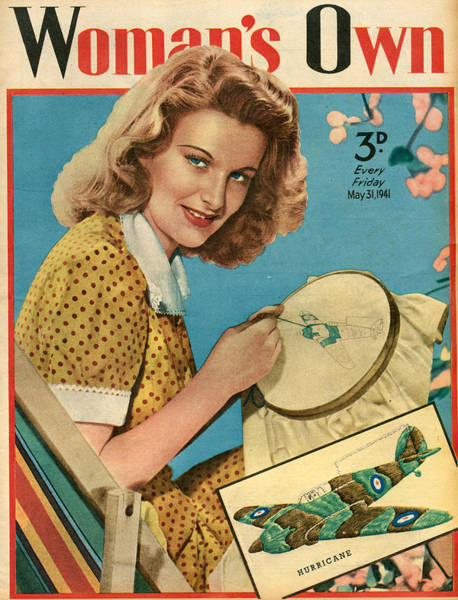 Wall Art - Photograph - 1940s Uk Womans Own Magazine Cover by The Advertising Archives