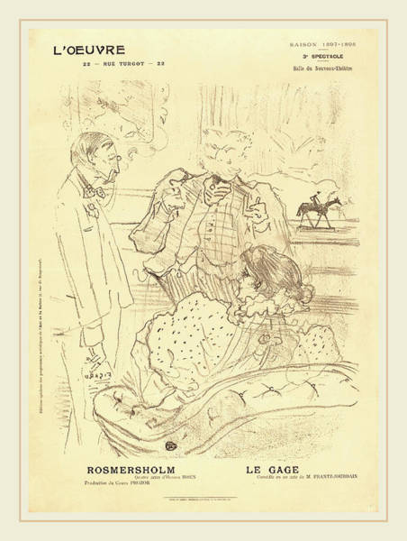 Wall Art - Drawing - Henri De Toulouse-lautrec French, 1864-1901 by Litz Collection