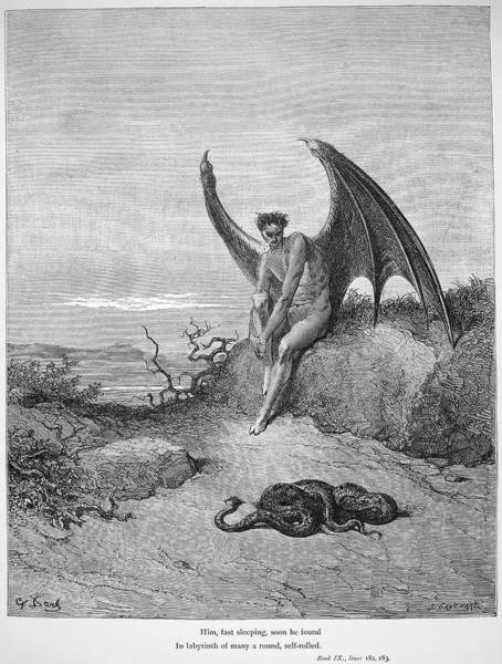 Wall Art - Drawing - Paradise Lost by Gustave Dore
