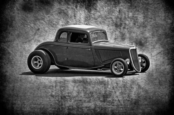 Photograph - 34 Street Rod B And W by Wes and Dotty Weber