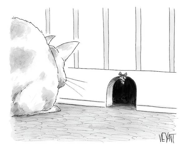 Cats Drawing - New Yorker December 15th, 2008 by Christopher Weyant