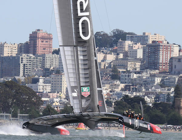 Ellison Bay Wall Art - Photograph - 34th America's Cup Defender by Steven Lapkin