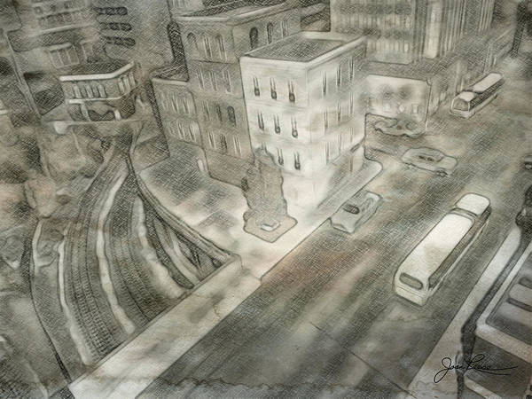 Drawing - 34th St. New York City by Joan Reese