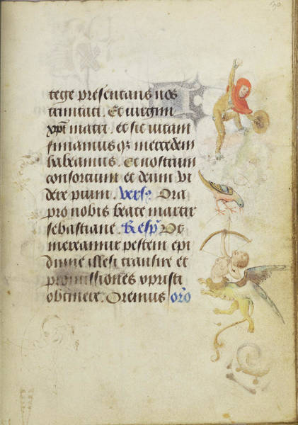 Wall Art - Painting - Decorated Text Page Nicolas Spierinc, Flemish, Active 1455 by Litz Collection