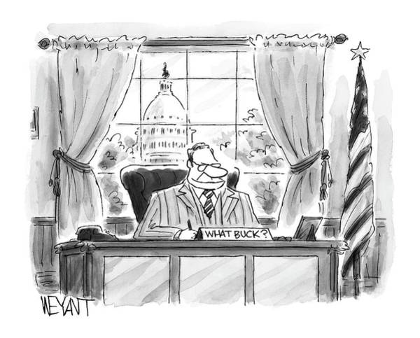 Buck Drawing - New Yorker July 25th, 2005 by Christopher Weyant