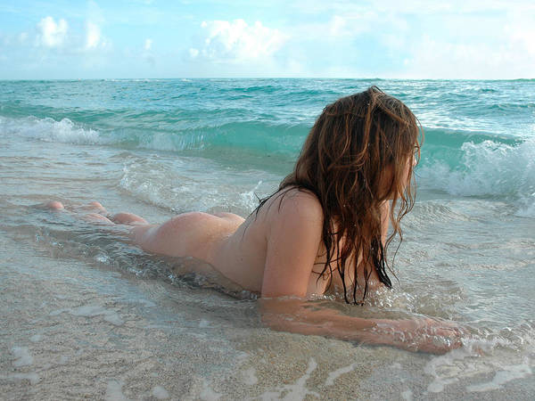 Photograph - 3586 Nude In The Ocean Surf  by Chris Maher