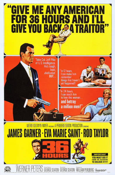 Rod Taylor Photograph - 36 Hours, Us Poster Art, Rod Taylor by Everett
