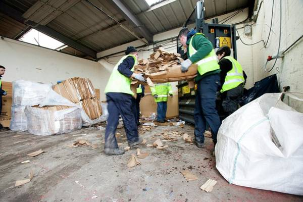 Compressor Photograph - Recycling Centre Workplace Charity by Lewis Houghton/science Photo Library