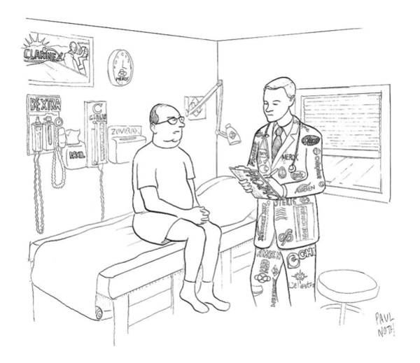 Medicine Drawing - New Yorker July 7th, 2008 by Paul Noth