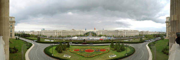 Ceausescu Wall Art - Photograph - 360 Degree View Of Nicolae Ceausescus by Panoramic Images
