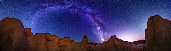 Colorado Photograph - 360 Milky Way Pano At Paint Mines by Photo By Matt Payne Of Durango, Colorado