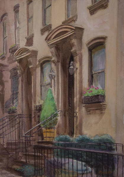 Fdr Painting - 36th Street Ny Residence Of Fdr by Walter Lynn Mosley