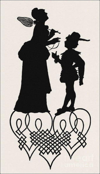 Wall Art - Drawing - A Silhouette Illustration For Midsummer Night Dream By Shakespea by Indian Summer