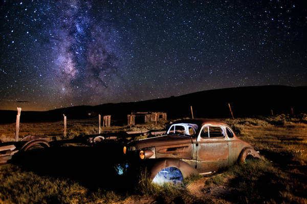 Milky Way Wall Art - Photograph - '37 Chevy And Milky Way by Cat Connor