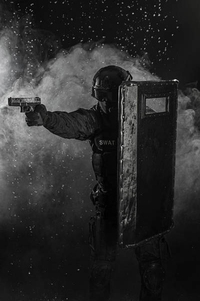 Wall Art - Photograph - Spec Ops Police Officer Swat by Oleg Zabielin