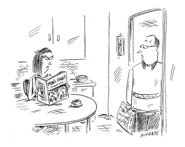 Divorce Drawing - New Yorker October 10th, 2005 by David Sipress