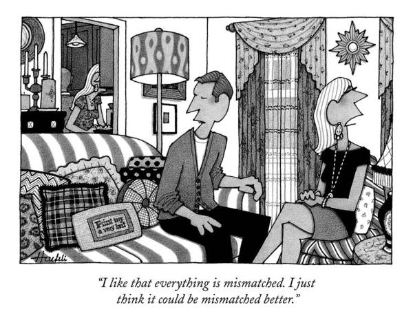 Interior Drawing - New Yorker September 14th, 2009 by William Haefeli