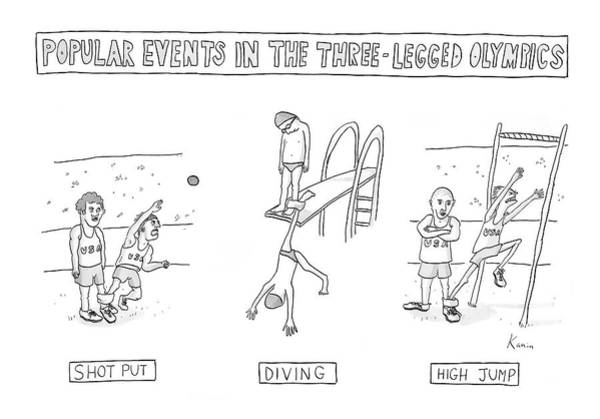 Jump Drawing - New Yorker July 30th, 2007 by Zachary Kanin
