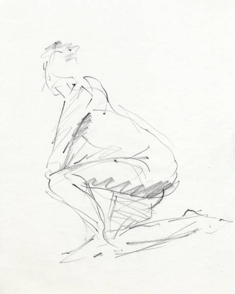 Dancer Drawing - Rcnpaintings.com by Chris N Rohrbach
