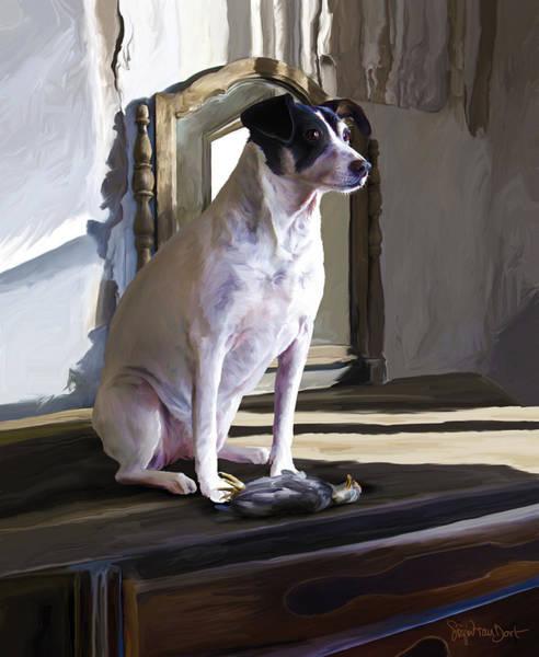 Digital Art - 38. Ugly Dog by Sigrid Van Dort