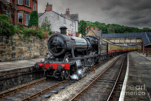 Railway Station Photograph - 3802 At Llangollen Station by Adrian Evans