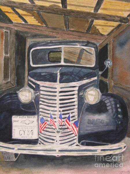 Painting - 39 Chevy by Peggy Dickerson