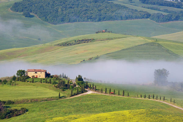 Back Road Photograph - Europe, Italy, Tuscany by Terry Eggers