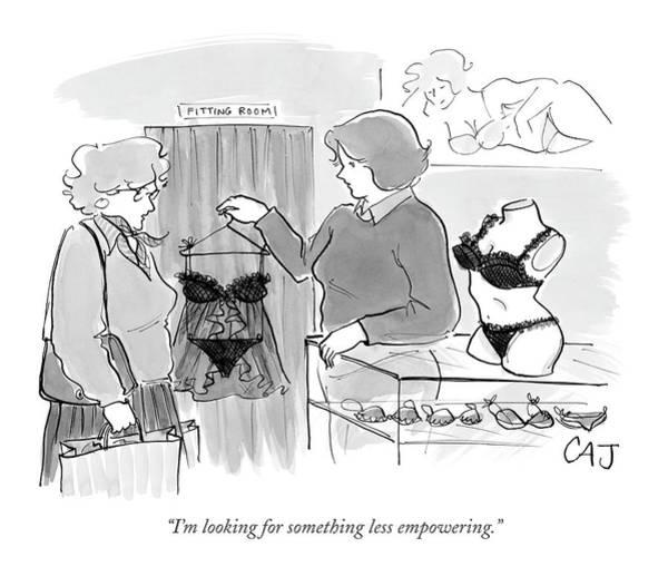 Sales Drawing - I'm Looking For Something Less Empowering by Carolita Johnson