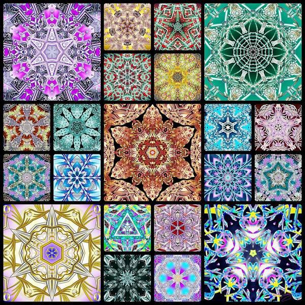 Digital Art - 3d Cosmic Sample Grid by Derek Gedney