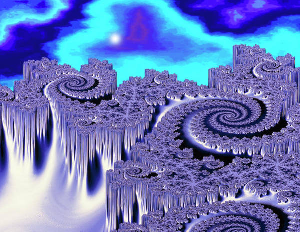 Fractal Landscape Wall Art - Photograph - 3d Julia Fractal Landscape: Plutonia by Gregory Sams/science Photo Library
