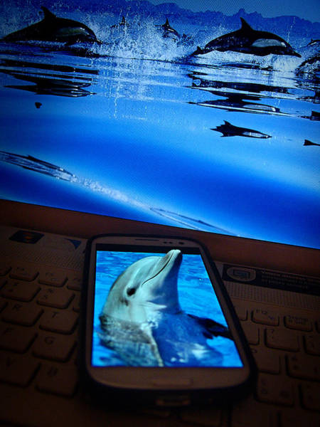 Photograph - 3d Phone... by Alessandro Della Pietra