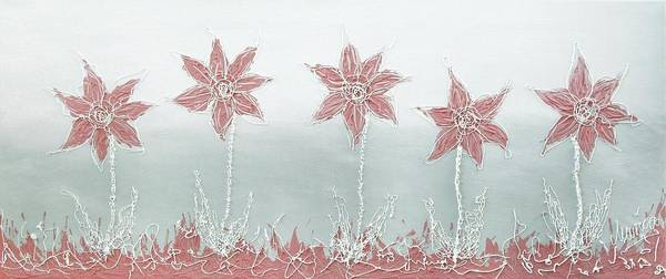 Painting - 3d Textured Flowers by Marianna Mills