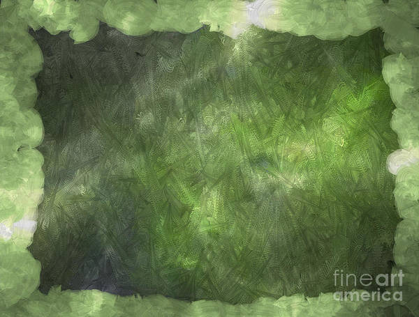 Nonprofit Digital Art - 3d Zone Green by Holley Jacobs