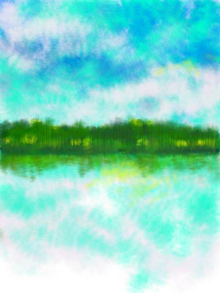 Elliott Digital Art - 3lakes by Elliott Aaron From