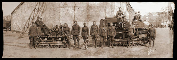 Platoon Wall Art - Photograph - 3rd Army Soldiers With Bulldozers by Fred Schutz Collection