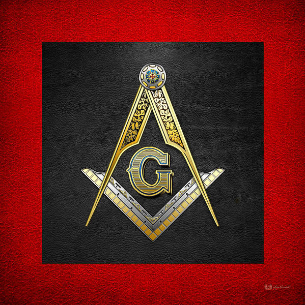 Jewels Digital Art - 3rd Degree Mason - Master Mason Masonic Jewel  by Serge Averbukh