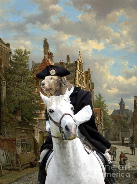 Wall Art - Painting -  Irish Wolfhound Art Canvas Print  by Sandra Sij