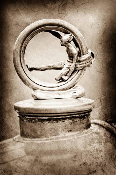 1912 Photograph - 1912 Gobron-brillie 12 Cv Skiff Hood Ornament by Jill Reger