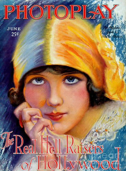 Wall Art - Drawing - 1920s Usa Photoplay Magazine Cover by The Advertising Archives