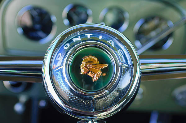 Photograph - 1933 Pontiac Steering Wheel Emblem by Jill Reger