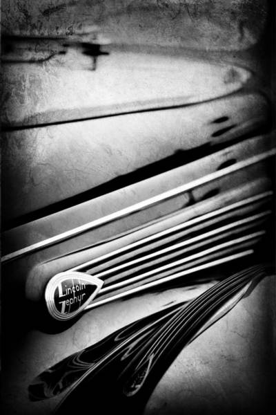 Photograph - 1938 Lincoln-zephyr Convertible Coupe Side Emblem by Jill Reger