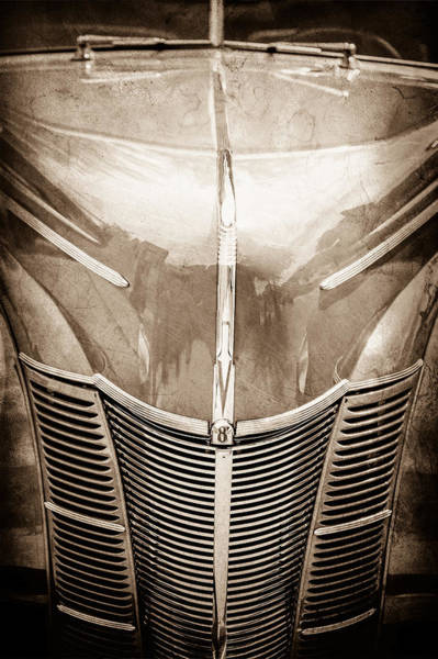 1940 Ford Coupe Photograph - 1940 Ford Deluxe Coupe Grille by Jill Reger