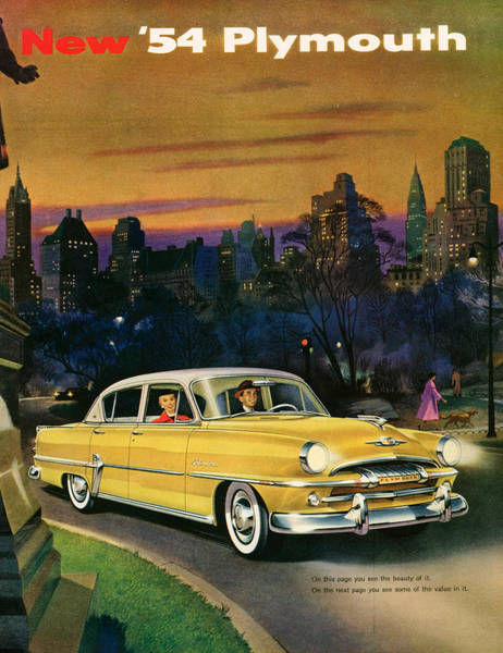 The Belvedere Photograph - 1950s Usa Plymouth Magazine Advert by The Advertising Archives