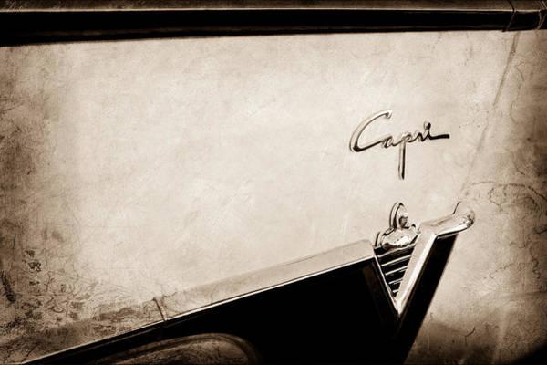 Capri Wall Art - Photograph - 1954 Lincoln Capri Convertible Emblem by Jill Reger