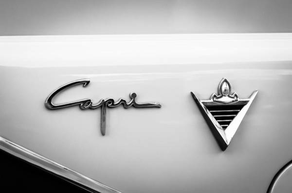 Photograph - 1955 Lincoln Capri Emblem by Jill Reger