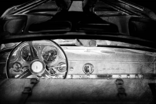 Photograph - 1955 Mercedes-benz Gullwing Dashboard - Steering Wheel by Jill Reger