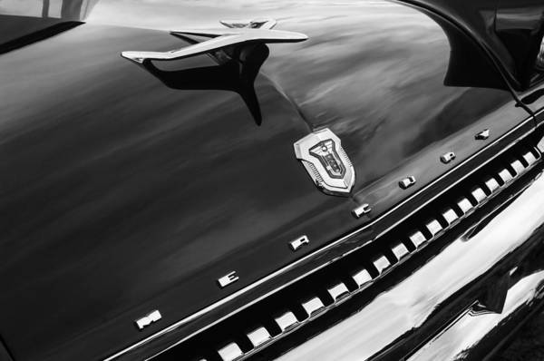 Photograph - 1955 Mercury Montclair Convertible Hood Ornament - Grille Emblem by Jill Reger