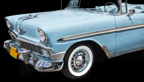 V8 Engine Wall Art - Photograph - 1956 Chevrolet Bel Air Convertible by Rich Franco