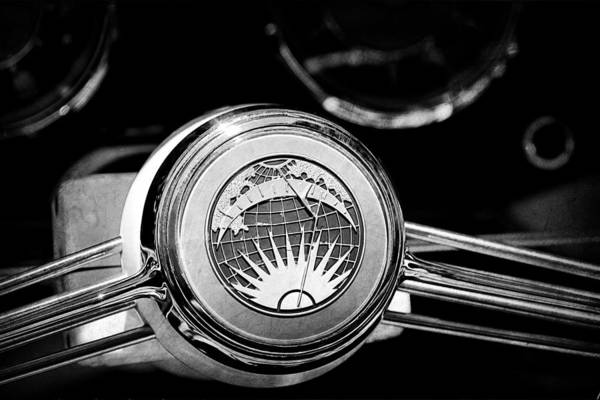 Photograph - 1956 Rometsch Beeskow Sports Cabriolet Volkswagen Vw Steering Wheel by Jill Reger